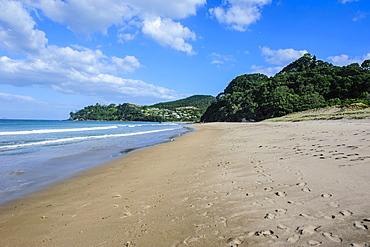 Long sandy hot water beach, Coromandel coast, North Island, New Zealand, Pacific