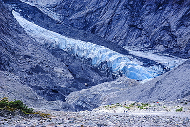 Mouth of the Franz-Joseph Glacier, Westland Tai Poutini National Park, Southern Alps, UNESCO World Heritage Site, South Island, New Zealand, Pacific