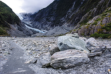 Franz-Joseph Glacier walk, Westland Tai Poutini National Park, Southern Alps, UNESCO World Heritage Site, South Island, New Zealand, Pacific