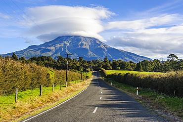 Road leading to Mount Taranaki, North Island, New Zealand, Pacific