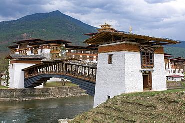 The tsong, an old castle of Punakha, Bhutan, Asia