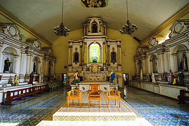 Interior of the church of Santa Maria, UNESCO World Heritage Site, Ilocos Norte, Northern Luzon, Philippines, Southeast Asia, Asia