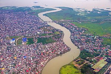 Aerial of Davao, Mindanao, Philippines, Southeast Asia, Asia