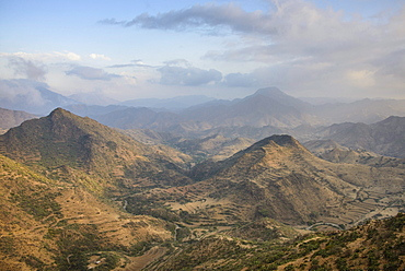 View over the mountains along the road from Massawa to Asmara, Eritrea, Africa