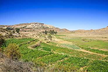 Mountain landscape along the road from Asmara to Qohaito, Eritrea, Africa