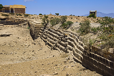 Ancient Sahira Dam at the Pre-Aksumite settlement of Qohaito, Eritrea, Africa