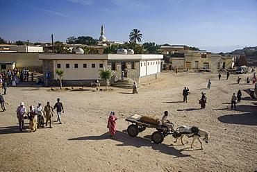 Horse cart at the Monday market of Keren, Eritrea, Africa