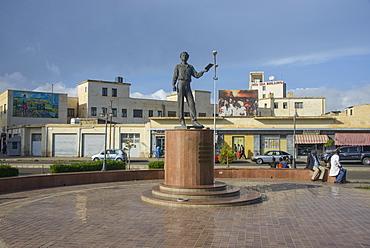 Pushkin statue in Asmara, capital of Eritrea, Africa