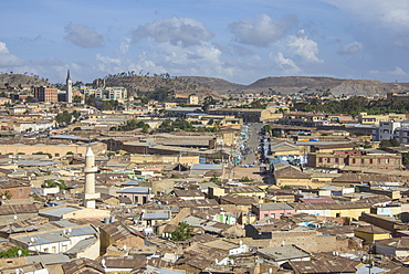 View over capital city of Asmara, Eritrea, Africa