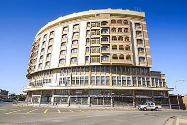 Italian art deco business building in Asmara, capital of Eritrea, Africa