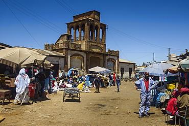 Gate of the Medebar market, Asmara, capital of Eritrea, Africa