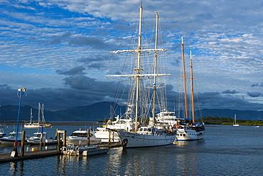 The harbour of Nadi, Viti Levu, Fiji, Pacific