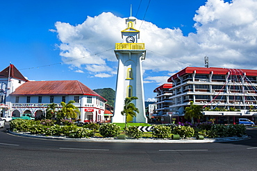 Clock tower in downtown Apia, Upolu, Samoa, South Pacific, Pacific