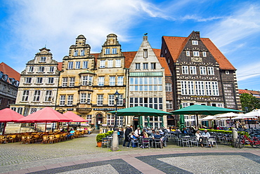 Old Hanse houses in Market square of Bremen, Germany, Europe
