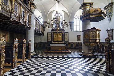 Chapel inside Kronborg renaissance castle, UNESCO World Heritage Site, Helsingor, Denmark, Scandinavia, Europe