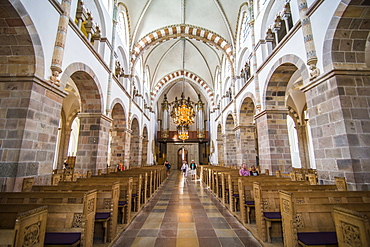 Inside the Our Lady Maria Cathedral, Ribe, Denmark's oldest surviving city, Jutland, Denmark, Scandinavia, Europe