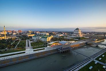 View over Grozny, Chechnya, Caucasus, Russia, Europe