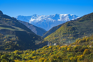 The Caucasian Mountains in fall, Chechnya, Caucasus, Russia, Europe