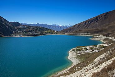 Lake Kezenoyam (Lake Goluboye) in Chechen Mountains, half in Chechnya and half in Dagestan, Caucasus, Russia, Europe