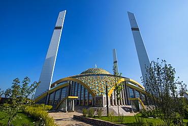 Haja Aymani Kadyrova Mosque in Argun, Chechnya, Caucasus, Russia, Europe