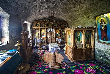 Cave monastery in the historical  temple complex of old Orhei (Orheiul Vechi), Moldova, Europe