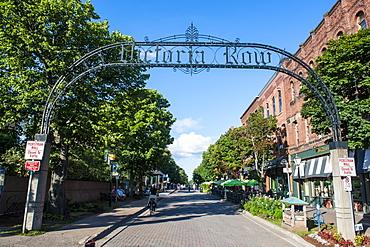Victoria Row pedestrian zone in Charlottetown, Prince Edward island, Canada, North America