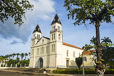 The cathedral of the city of Sao Tome, Sao Tome and Principe, Atlantic Ocean, Africa