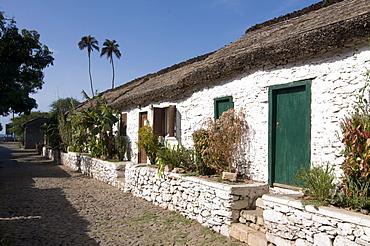 Buildings in picturesque old town of Ciudad Velha (Cidade Velha), Santiago, Cape Verde, Africa