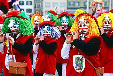 Traditional carnival, Basel, Switzerland