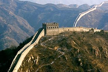 View of the Great Wall of China near Badaling, China