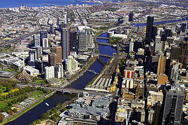 Melbourne CBD and Yarra River, Victoria, Australia (spring, 2005)