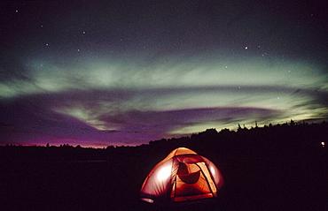 Northern lights, Aurora Borealis, Alaska, USA.