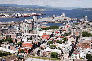 Canada, Quebec City, Riviere Saint Charles, Marina Bassin Louise, St, Lawrence River,