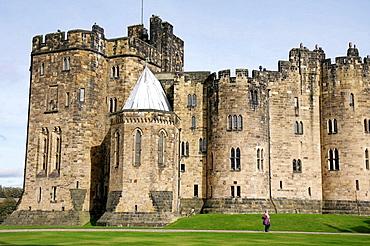 UK, England, Northumberland, Alnwick, Alnwick Castle, Harry Potter movie site,