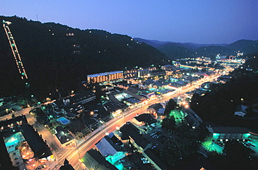 Gatlinburg, view from Space Needle, Tennessee, USA