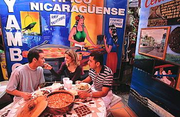 Nicaraguan restaurant at Calle Ocho, Little Havana, Miami, Florida, USA