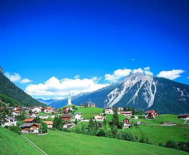 Village of Schmitten in Engadin, Canton Graubunden, Switzerland