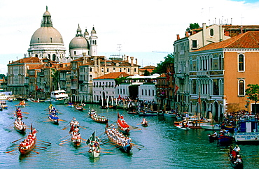 'Regata Storica' (Historical boats parade) on Grand Canal, Venice, Italy