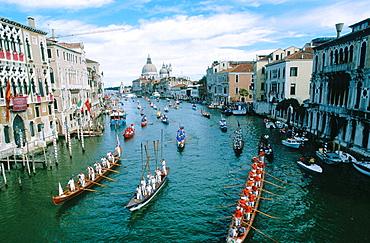 Historical boats parade, Regata Storica, Grand Canal, Venice, Italy