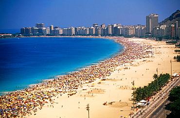 The Beach of Copacabana, Rio de Janeiro, Brazil