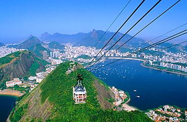Cablecar to Sugarloaf, Rio de Janeiro, Brazil