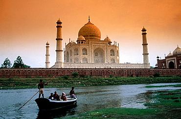 Boat at Taj Mahal in Agra, Uttar Pradesh, India