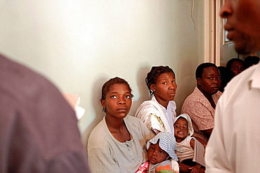 Patients wait in the Maternity Ward of the Howard Hospital, They come for pre and post-natal consulatation, The Howard Hospital is a Salvation Army facility in northern Zimbabwe
