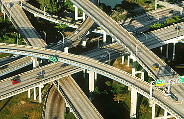 Highway overpass, Route 95, Miami, Florida, USA