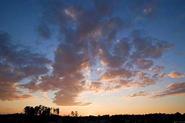 Sunset, near Guilford College, Greensboro, NC