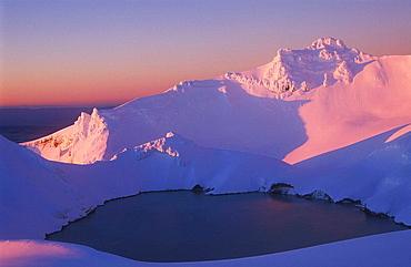 Crater Lake and Tahurangi Mt Ruapehu Tongariro National Park New Zealand