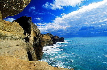 Castlepoint lighthouse Wairarapa Coast North Island New Zealand