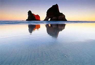 Archway Islands Wharariki Beach Farewell Spit New Zealand