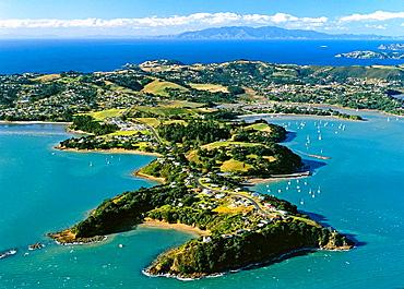 Kennedy's Point Huruhi Bay and Putiki Bay Waiheke Island Hauraki Gulf New Zealand
