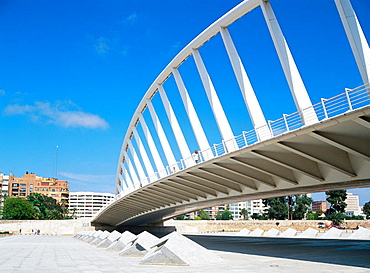 Bridge by Santiago Calatrava, Valencia, Spain